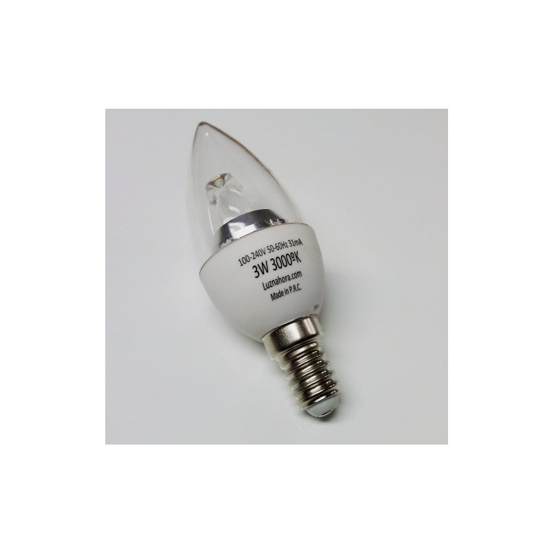 Lampada E12 Led Vela: Lampada De Led Tipo Vela 3w E14